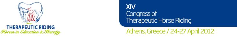 XVI Congress of Therapeutic Horse Riding | Athens, Greece / 24-27 April 2012